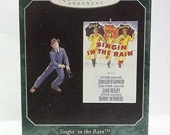 Singin in the rain, Gene Kelly,  Hallmark set of 3 ornaments 1998 mib