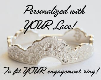Personalized Wedding Band, Personalized Wedding Ring, Custom Wedding Band, To Fit An Engagement Ring, Customized Wedding Ring, Custom Ring