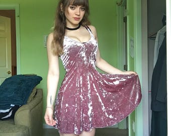 American Eagle Crushed Velvet Dress