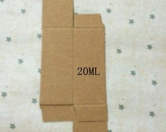 50pcs/lot 31*31*83 Brown Kraft Box, Packing Box for Essential Bottle Cosmetic Boxes 10ml -100ml