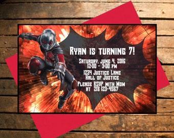 Downloadable Avengers Ant-Man Themed Birthday Invitation