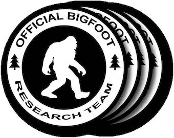 Bigfoot Research Team/Neoprene coasters/Sublimation Printed/Bridal Gift/Teacher Gift/Wedding Gift