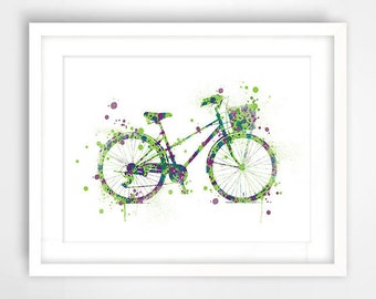 City print art decorative bike inner trend, birthday gift idea