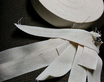 18th Century Cotton twill tape sewing notions