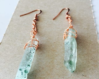 Aventurine Crystal Earrings