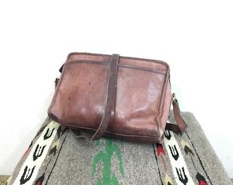 vintage coach distressed leather shoulder bag handbag