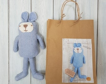 Pablo Rabbit Knitting Kit - Make Your Very Own Rabbit - Easy To Knit Pattern