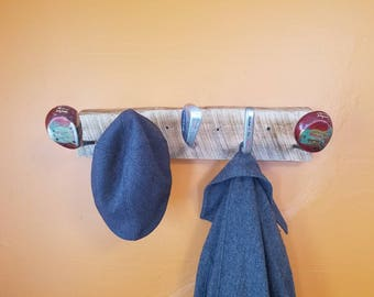 Rustic Reclaimed Golf Club Coat Rack