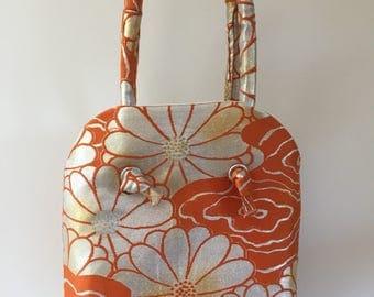 Vntage Japanese obi silk handbag