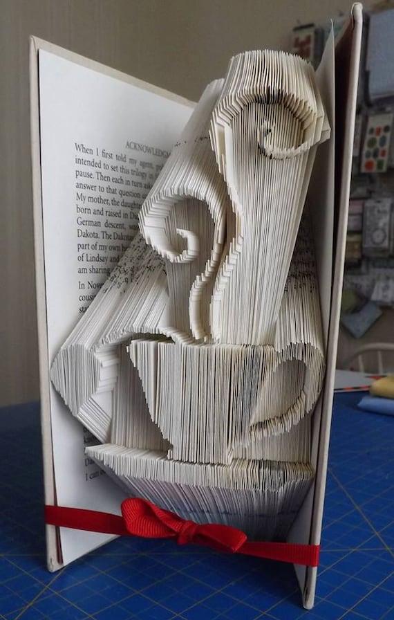 Folded Art Book Designs by CindysPaperDesigns on Etsy