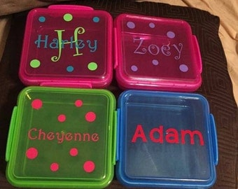 Personalized sandwich boxes for school , work or any occassion or outing