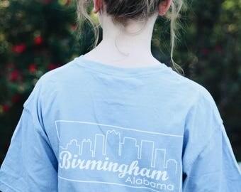 Birmingham AL skyline pocket tee - local tshirt