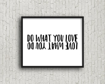 Do What You Love Love What You Do, Motivational Poster, Inspirational Wall Art, Fitness, Fitness Motivation, Gift For Runner, Digital Art
