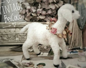 SWEET! Vintage lamb, sheep, wool sheep.