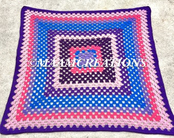 Child's Granny Square Throw/ Blanket