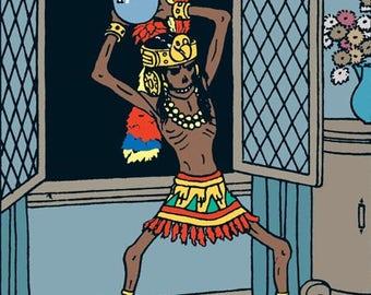 Tintin the mummy of Rascar Capac