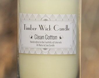Clean Cotton | 16-Ounce Soy Candle with Cedar Wick