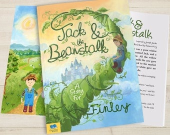 Personalised Jack and The Beanstalk Book-Softback