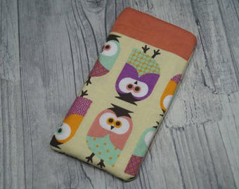 "Cell phone bag ""Owls"""