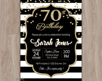 70th Birthday Invitation, 70th birthday party invitations, 70th birthday invite, female, woman, Seventy, Seventieth Birthday, 70 birthday