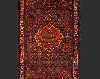 Malayer antique persian rug 6.5 x 4.5 ft / 200 x 137 cm carpet farahan sarouk malayer 7x5 ft, 7x4 ft