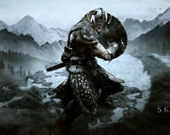 DISCOUNTED PRICE 50% + free shipping ! The elder scrolls 5 Skyrim Dragonborn Dovahkiin cosplay costume