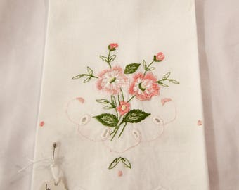 Sweet Towel with Pink Flowers