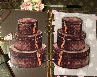 Double Sided Vintage Stacked Hat Boxes- Page Laminate GM, MM, PM