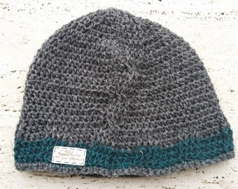 Tweed Cabled Beanie