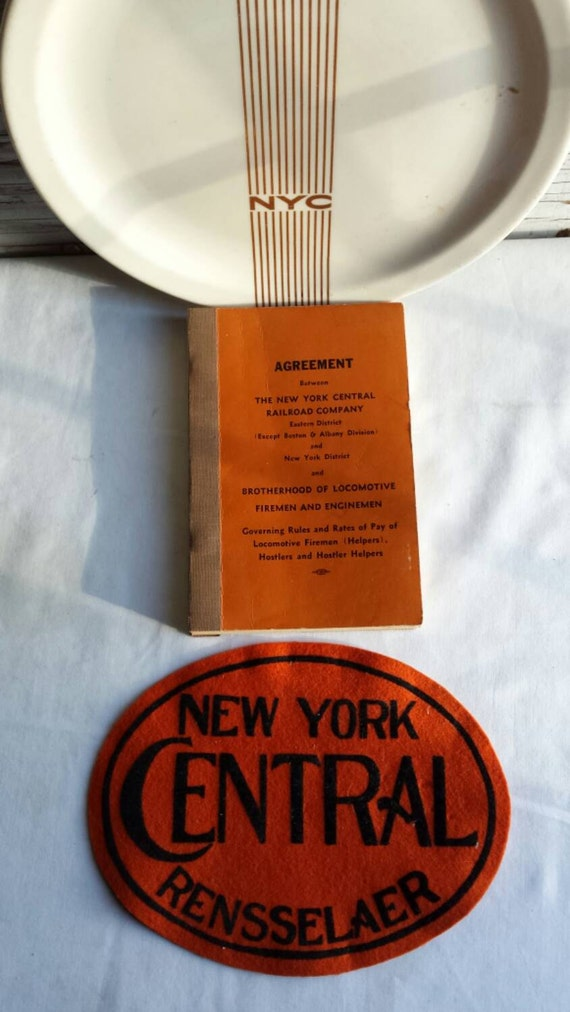 Vintage 1958 Railroadiana. Agreement Between the NYC RR Co and Brotherhood of Locomotive Firemen and Enginemen.Governing Rules and Pay Rates