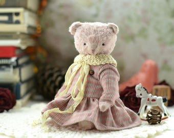 Teddy Bear Sofya Toy Stuffed Animal 5.9 inches mohair teddy
