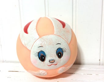 Vintage Rubber Ball with Bunny