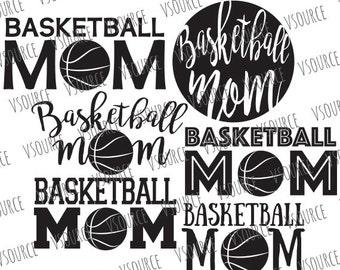 Basketball Mom SVG - Basketball Svg - Basketball Mom Clipart - Basketball Mom SVG Bundle - Basketball Mom Cut File Bundle - DXF, Png, Eps