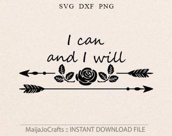 Arrow SVG Inspirational svg Valentine Roses svg DXF file Silhouette designs Cricut downloads Cricut files Vector file Arrow JpEG Rose svg