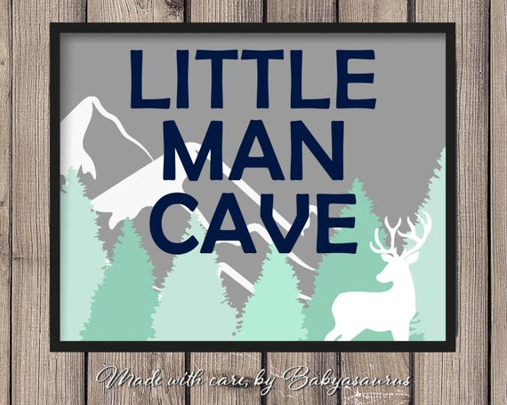 Little Man Cave Wall Art : Little man cave rustic wall art decoration for boys room