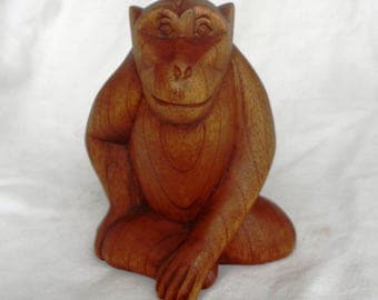 monkey wood carving (#mnkst6)