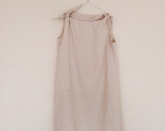 Tie dress linen