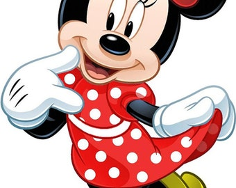 Minnie Mouse Iron On Transfer or Birthday