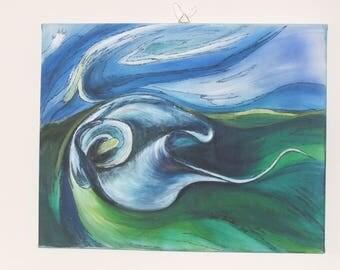 Calla, acrylic, painting, wall painting, art,