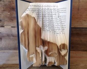 Lion King Folded Book Art