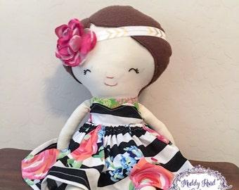 Ready To Ship-Plush doll,fabric doll,rag doll