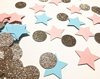 Gender Reveal confetti.   Gender reveal ideas   Gender Reveal Party.  Boy or Girl confetti.   Gender Reveal decorations.  Pink or blue