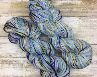 Hand Dyed Yarn | Superwash Merino Wool/Nylon Blend | Full-Bodied Sock/Fingering Weight | 100 g. | Imperial Açai Blueberry | 4-ply