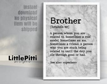 Brother gift funny, brother gift from sister, for brother, big brother gift, marble art, brother quotes, brother gift ideas, best brother