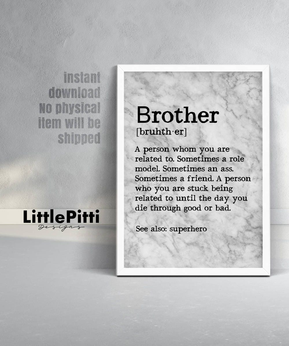 Funny Brother Quotes And Sayings: Brother Gift Funny Brother Gift From Sister For Brother Big