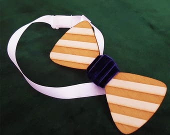 classy wooden bow tie