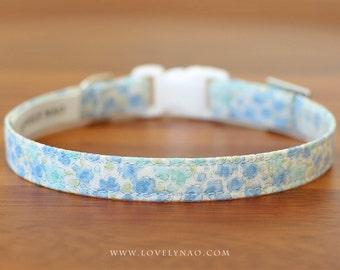 Tiny Flower Cat Collar –  Blue