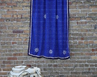 royal blue curtain etsy