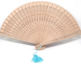 Gorgeous And Unique Vintage Estate Decorative Asian Inspired Hand Fan