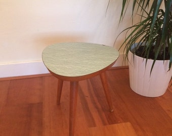 Vintage side table / plant stand / coffee table / flower stool / retro mid century / green